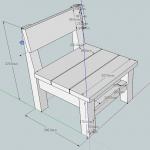 子供椅子 SketchUp図